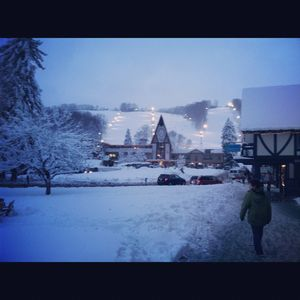 Magical moment captures Boyne Village in winter