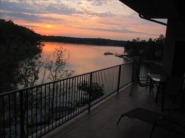 Lake Martin condo rental - Sunsets from the balcony will change your entire frame of mind!