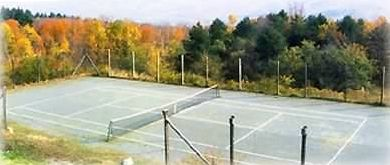 Tennis court and Putney Mountain