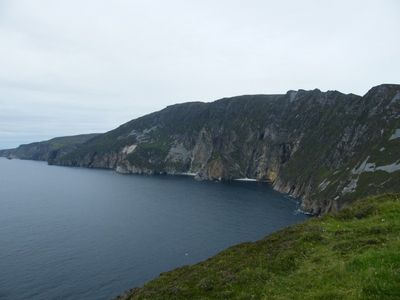 The cliffs in nearby Donegal