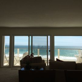 Aptos condo rental - Ocean View from Living Room - 45 ft. private deck from LR to Bedroom