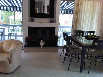Ocean City South End condo rental - Living & Dining Area- View from Hallway