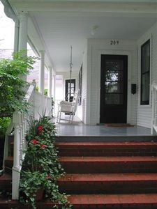 Suttons Bay house rental - Front Porch w Swing