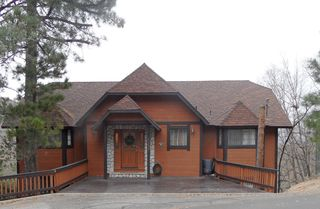 Lake Arrowhead house photo - Front of house, parking deck holds 4 vehicles