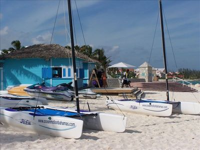 Walk right down to Port Lucaya shops, water sports, all for the entire family
