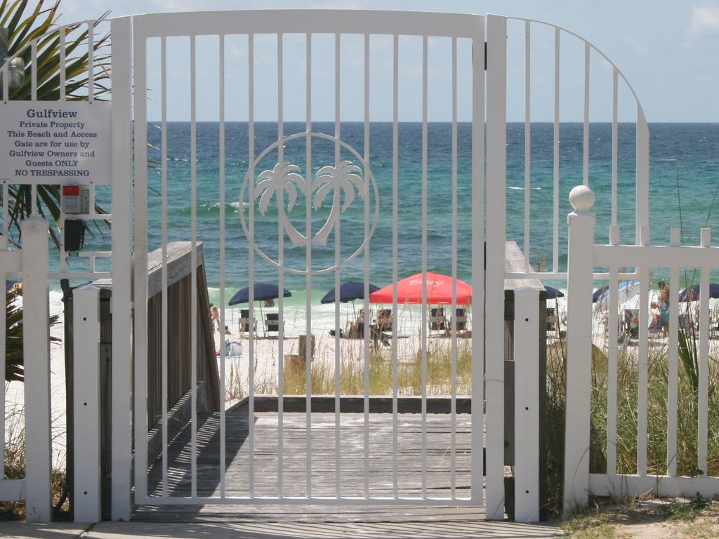 Private gated beach access (code needed)