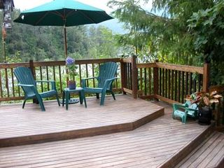 Gold Bar cabin photo - Take in the views on the over-sized deck