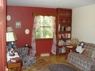 South Yarmouth house photo - Reading Room with wood stove and books for reading