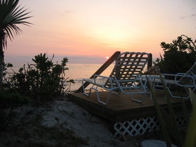 North Palmetto Point villa rental - Morning Sunrise on Dune deck