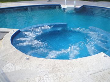 Whirlpool within infinity edge pool.