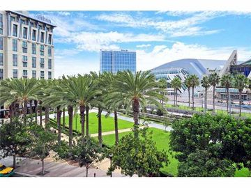 San Diego condo rental - Actual View from Balcony-Park Across the Street is a Park and the Hilton Gaslamp