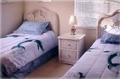 Bedroom #2 - Twin Beds - Pocket Door to Private Bath