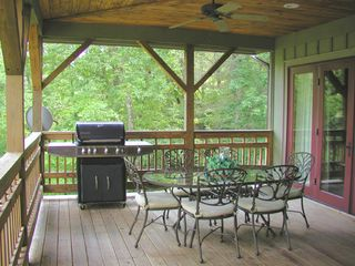 Highlands house photo - The Deck Dining area features a large gas grill for al fresco dining...