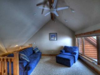 Estes Park house photo - Loft Area in Upper Level with Queen Sleeper Sofa and Twin Bed