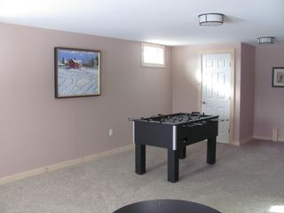 Manchester house photo - Lower level family room with fooseball table and full sleeper sofa.