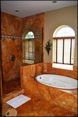 St. Tropez Destin villa photo - Master Bath with whirlpool tub