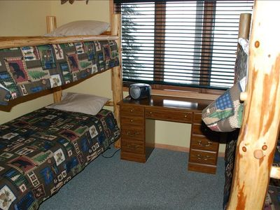 Two sets of bunk beds in Bedroom #3