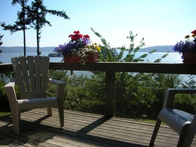 Deck is perfect for enjoying the view, reading and playing.