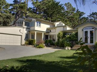 Pebble Beach house photo - Front exterior of the home has 2 car garage and room for 4-5 more cars.