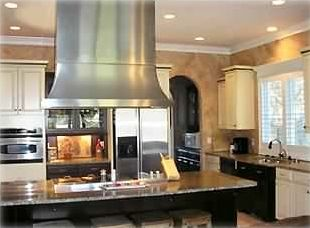 Folly Beach house rental - Large kitchen with professional 2 oven stove with 4 burners and grill +griddle