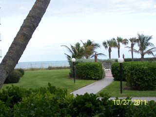 Vero Beach condo photo - Pool area with Ocean in background