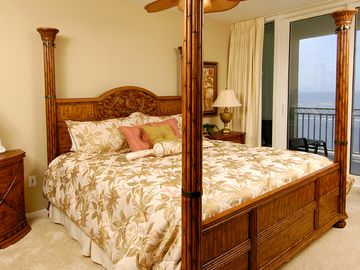 Master Bedroom and its view from the balcony