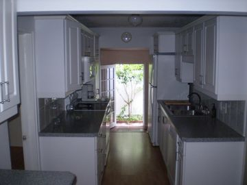 Kitchen facing side entrance