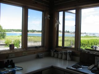 Wells townhome photo - Kitchen with great view to Kennebunkport