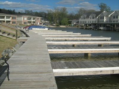 Boardwalk and boat slips