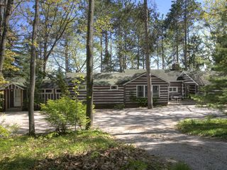 Traverse City cabin photo - .Back of Tall Pines from the street.
