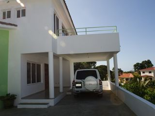 Sosua villa photo - Front Terrace with Covered Parking (further Onsite Parking for 3/4 vehicles)