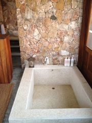 San Francisco villa photo - Shower with sunken bathtub. Relax while you take in the amazing view!