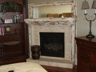 Pensacola Beach house photo - Master bedroom fireplace
