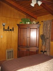 Idyllwild cabin photo - The armoire in the bedroom has a TV