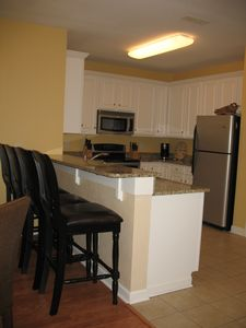 Kitchen well equipped to handle group meals; plenty of seating for all guests