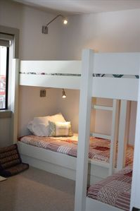 built in bunk beds sleep four