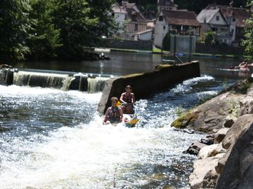 Shooting the rapids at Beaulieu
