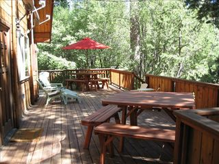 Homewood cabin photo - Large Deck