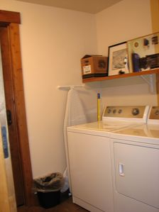 washer and dryer in the utility room in the condo