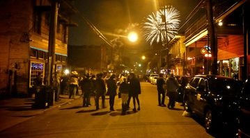 Fireworks on Frenchmen St. Just 6 blocks away.