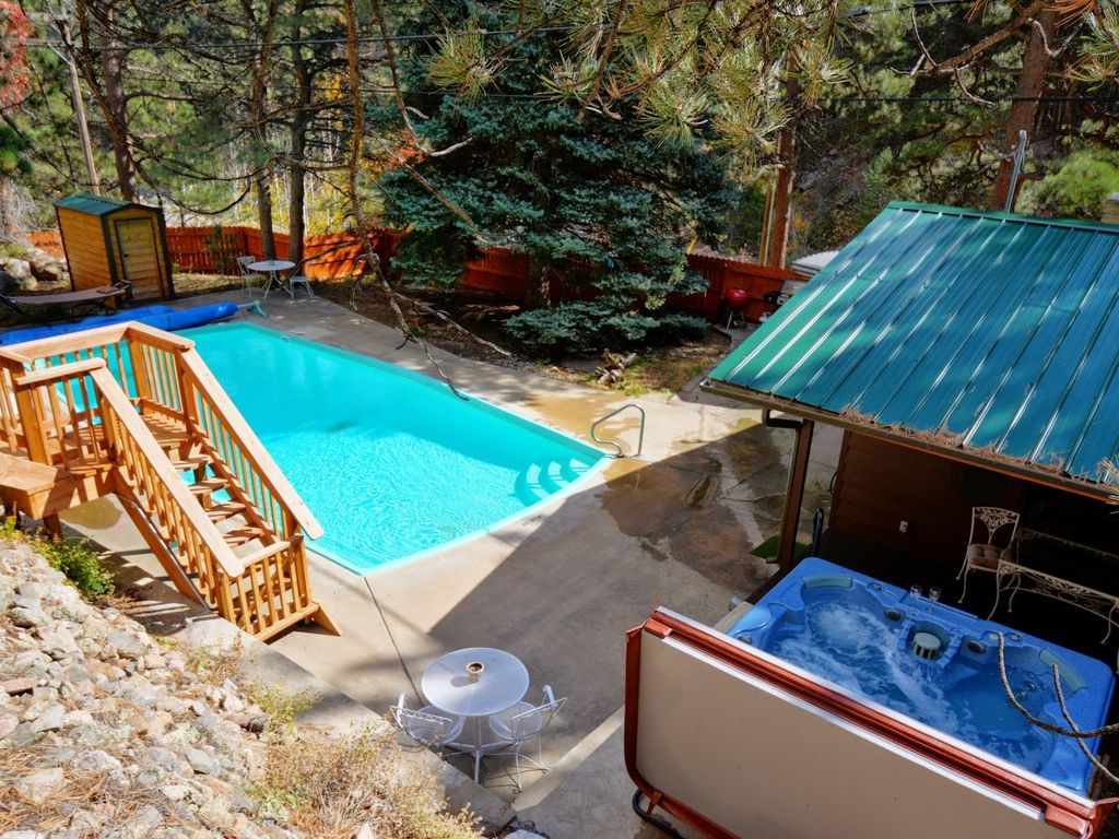 Private Cabin On River Heated Pool Hot Tub Vrbo