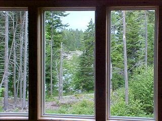 Seal Cove house photo - view from loft