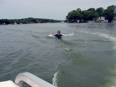 Tubing on Lauderdale Lake