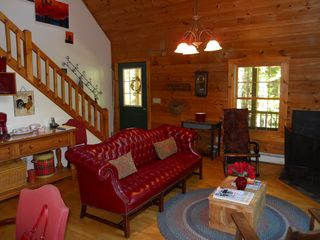 Peaks Island house photo - Relax in the living room and let this log home take your cares away!