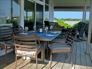 Eastham house photo - Take your meals outside and enjoy the breath taking views.