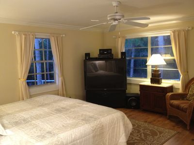 500 sq ft. Master Bedroom Suite with private bathroom and sitting room