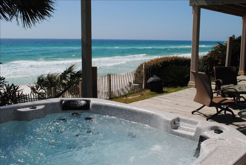 Gulf Front Home Hot Tub See Family Enjoy Vrbo