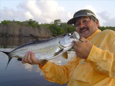 Fly fishing on Tarpon Lake