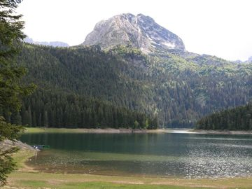 Black Lake in summer, a few km from chalet
