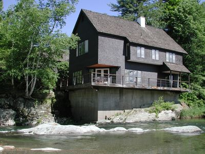 View of the house from the private Mad River